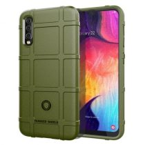 Samsung Galaxy A50 Ütésálló Tok Anti-Shock Series Rugged Shield -RMPACK- KatonaZöld