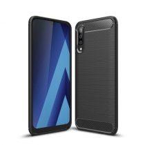 Samsung Galaxy A50 Szilikon Tok Ütésállókivitel Karbon Mintázattal Fekete