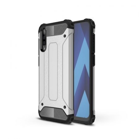 Samsung Galaxy A50 Ütésálló Armor Tok Guard Series 2in1 Ezüst