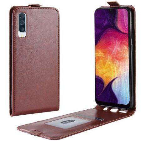 Samsung Galaxy A50 Flip Tok Mágneses Barna