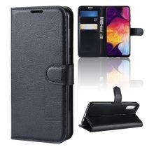 Samsung Galaxy A50 Notesz Tok Business Series Kitámasztható Bankkártyatartóval Fekete