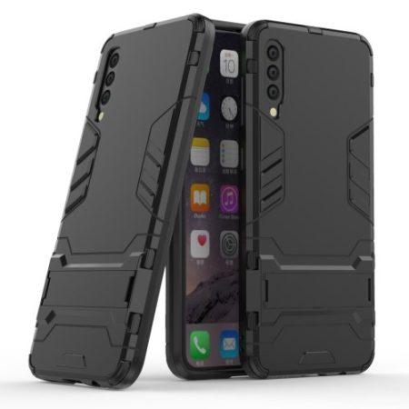 Samsung Galaxy A50 2in1 Tok Ütésálló - Kitámasztható TPU Hybrid Fekete