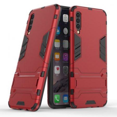Samsung Galaxy A50 2in1 Tok Ütésálló - Kitámasztható TPU Hybrid Piros