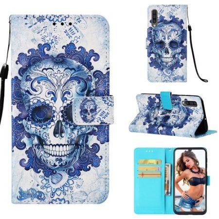 Samsung Galaxy A50 Tok Bankkártyatartóval Notesz Mintás Kitámasztható -RMPACK- Life&Dreams LD01