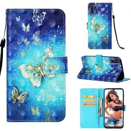 Samsung Galaxy A50 Tok Bankkártyatartóval Notesz Mintás Kitámasztható -RMPACK- Life&Dreams LD03