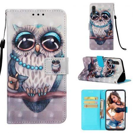 Samsung Galaxy A50 Tok Bankkártyatartóval Notesz Mintás Kitámasztható -RMPACK- Life&Dreams LD05