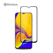 Samsung Galaxy A50 / A30 / A20 / M30 Képernyővédő Üveg - Tempered Glass AMORUS -3D FULL SIZE- Fekete