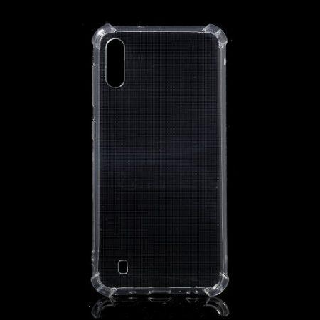 Samsung Galaxy M10 Ütésálló Szilikon Tok Shock TPU GEL Series Áttetsző