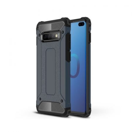 Samsung Galaxy S10 Plus / Galaxy S10+ Ütésálló Armor Tok Guard Series 2in1 Sötétkék