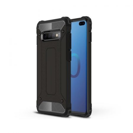 Samsung Galaxy S10 Plus / Galaxy S10+ Ütésálló Armor Tok Guard Series 2in1 Fekete