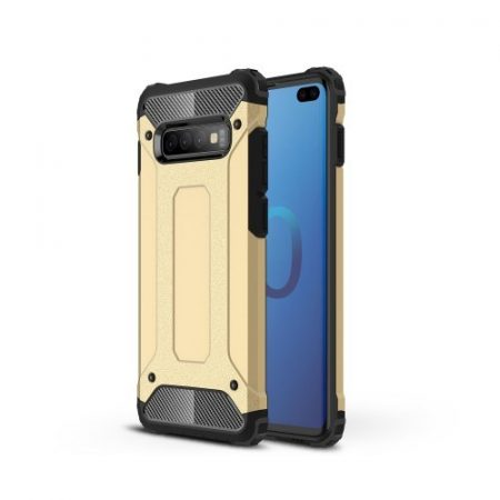 Samsung Galaxy S10 Plus / Galaxy S10+ Ütésálló Armor Tok Guard Series 2in1 Arany