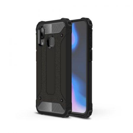 Samsung Galaxy A40 Ütésálló Armor Tok Guard Series 2in1 Fekete