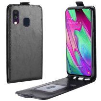 Samsung Galaxy A40 Flip Tok Mágneses Fekete