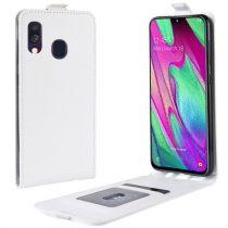 Samsung Galaxy A40 Flip Tok Mágneses Fehér