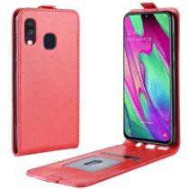 Samsung Galaxy A40 Flip Tok Mágneses Piros
