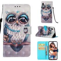 Samsung Galaxy A40 Tok Bankkártyatartóval Notesz Mintás Kitámasztható -RMPACK- Life&Dreams LD05