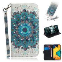 Samsung Galaxy A20 / A30 Tok Bankkártyatartóval Notesz Mintás Kitámasztható -RMPACK- SummerSeries SS03
