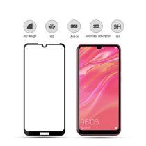 Huawei Y7 (2019) Képernyővédő Üveg - Tempered Glass Full Size 3D MOCOLO Fekete