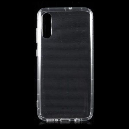 Samsung Galaxy A70 Ütésálló Szilikon Tok Shock TPU GEL Series Áttetsző