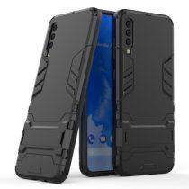 Samsung Galaxy A70 2in1 Tok Ütésálló - Kitámasztható TPU Hybrid Fekete