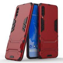 Samsung Galaxy A70 2in1 Tok Ütésálló - Kitámasztható TPU Hybrid Piros