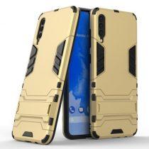 Samsung Galaxy A70 2in1 Tok Ütésálló - Kitámasztható TPU Hybrid Arany