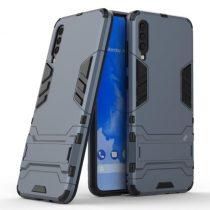 Samsung Galaxy A70 2in1 Tok Ütésálló - Kitámasztható TPU Hybrid Sötétkék