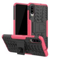 Samsung Galaxy A70 Ütésálló Tok Kitámasztható 2in1 Hybrid Pink
