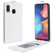 Samsung Galaxy A20e Flip Tok Mágneses Fehér