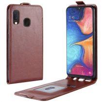Samsung Galaxy A20e Flip Tok Mágneses Barna
