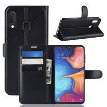 Samsung Galaxy A20e Notesz Tok Business Series Kitámasztható Bankkártyatartóval Fekete