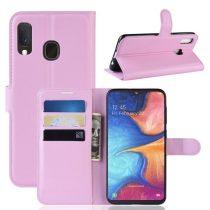 Samsung Galaxy A20e Notesz Tok Business Series Kitámasztható Bankkártyatartóval Rózsaszín