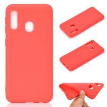 Samsung Galaxy A20e Tok Szilikon Soft Matte Series Piros