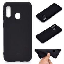 Samsung Galaxy A20e Tok Szilikon Soft Matte Series Fekete
