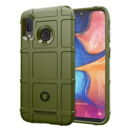 Samsung Galaxy A20e Ütésálló Tok Anti-Shock Series Rugged Shield -RMPACK- KatonaZöld