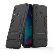 Samsung Galaxy A20e 2in1 Tok Ütésálló - Kitámasztható TPU Hybrid Fekete