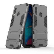Samsung Galaxy A20e 2in1 Tok Ütésálló - Kitámasztható TPU Hybrid Szürke