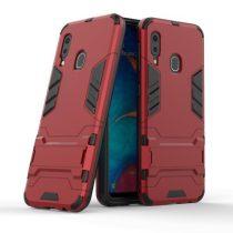 Samsung Galaxy A20e 2in1 Tok Ütésálló - Kitámasztható TPU Hybrid Piros
