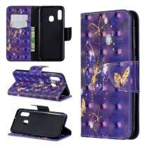 Samsung Galaxy A20e Tok Bankkártyatartóval Notesz Mintás Kitámasztható -RMPACK- Life&Dreams LD10