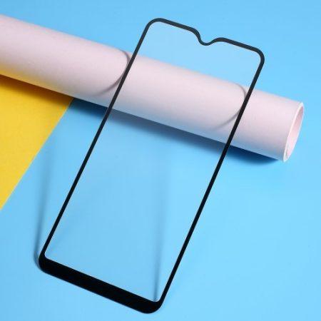 Samsung Galaxy A20e Kijelzővédő Üveg - Tempered Glass -FULL Size- 3D Fekete
