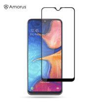 Samsung Galaxy A20e Tempered Glass - Képernyővédő Üveg 3D - Full Size - AMORUS Fekete