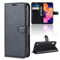 Samsung Galaxy A10 Notesz Tok Business Series Kitámasztható Bankkártyatartóval Fekete