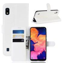 Samsung Galaxy A10 Notesz Tok Business Series Kitámasztható Bankkártyatartóval Fehér