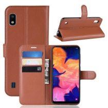 Samsung Galaxy A10 Notesz Tok Business Series Kitámasztható Bankkártyatartóval Barna