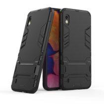 Samsung Galaxy A10 2in1 Tok Ütésálló - Kitámasztható TPU Hybrid Fekete