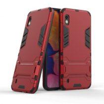 Samsung Galaxy A10 2in1 Tok Ütésálló - Kitámasztható TPU Hybrid Piros