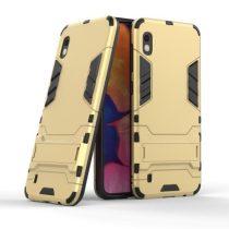 Samsung Galaxy A10 2in1 Tok Ütésálló - Kitámasztható TPU Hybrid Arany