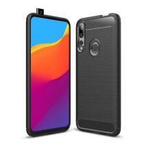 Huawei P Smart Z Szilikon Tok Ütésállókivitel Karbon Mintázattal Fekete