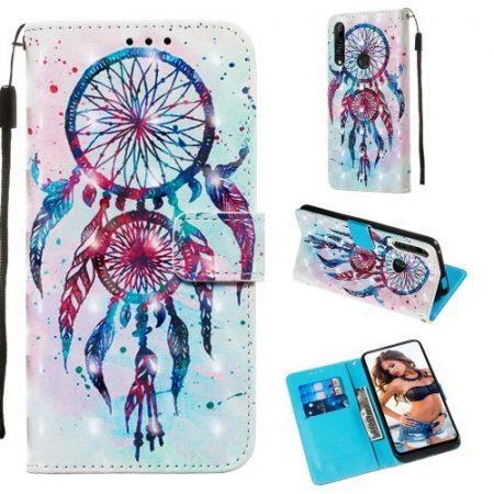Huawei P Smart Z Tok Bankkártyatartóval Notesz Mintás Kitámasztható -RMPACK- Life&Dreams LD07