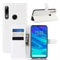 Huawei P Smart Z Notesz Tok Business Series Kitámasztható Bankkártyatartóval Fehér